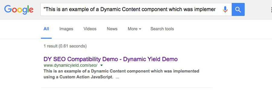 The Impact of Personalization on SEO Experiment