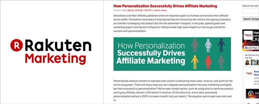 How Personalization Successfully Drives Affiliate Marketing