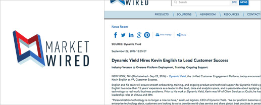 Dynamic Yield Hires Kevin English to Lead Customer Success