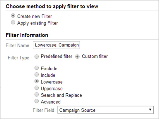 Force lowercase filter on campaign attributes