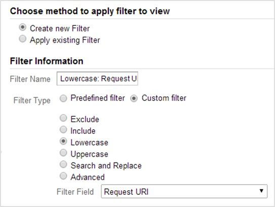 Force lowercase filter on Request URI