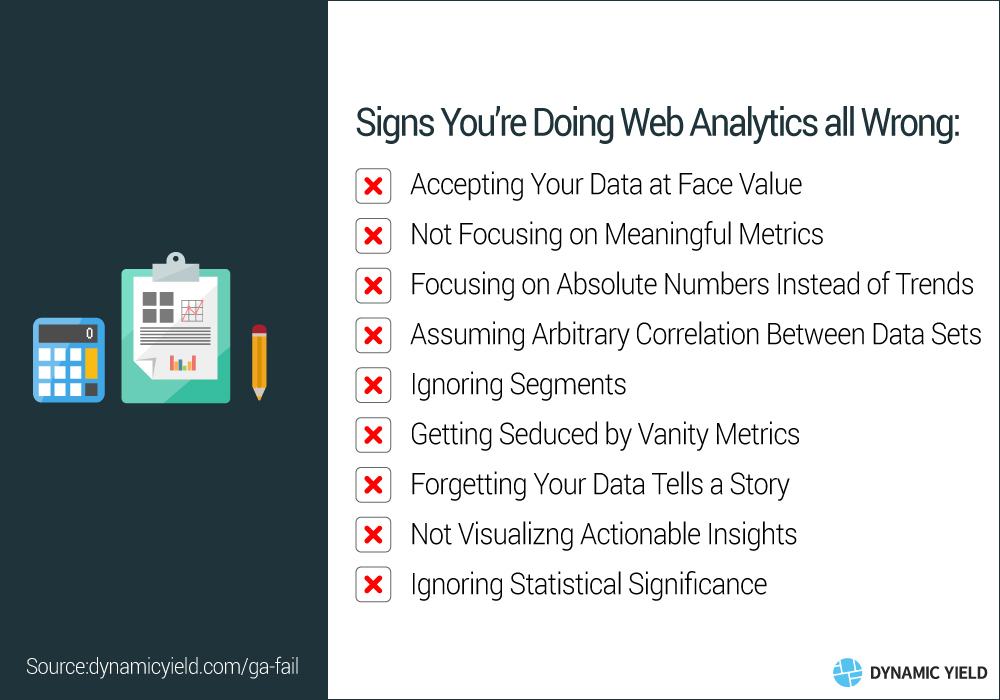 Signs Your Doing Web Analytics All Wrong