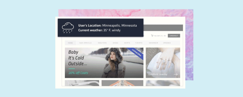 How to use weather targeting for personalization