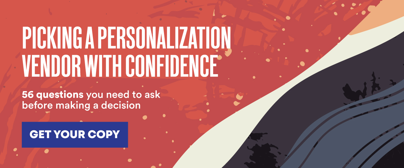 Download picking a personalization vendor with confidence - a resource for evaluation