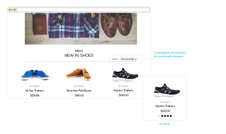 Personalize Grids on Product Pages