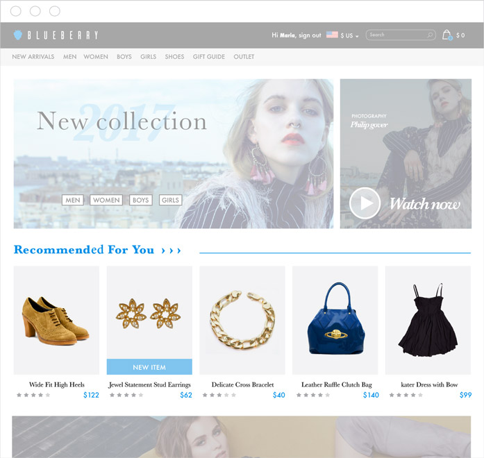 Homepage Product Recommendations