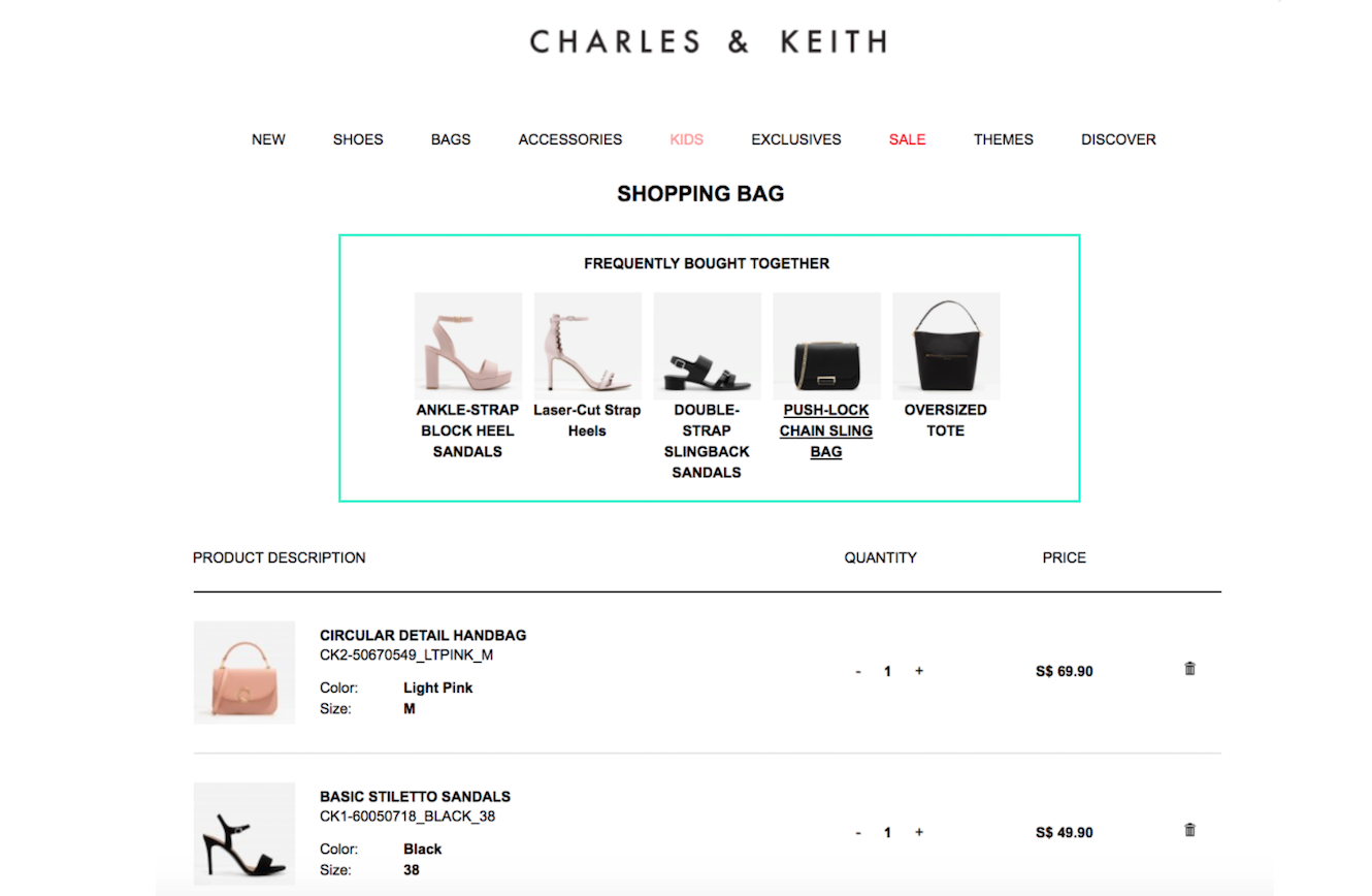 CharlesKeith_CartPage_DynamicYield