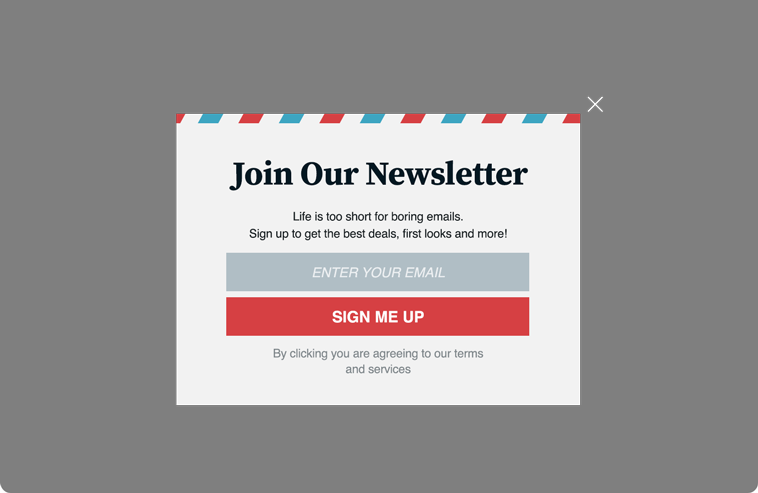Subscribe To Newsletter Website Overlay Dynamic Yield - Newsletter subscription email template