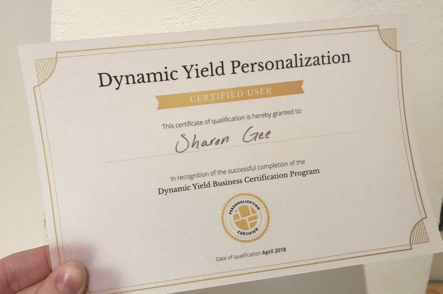 Dynamic Yield Personalization Certification