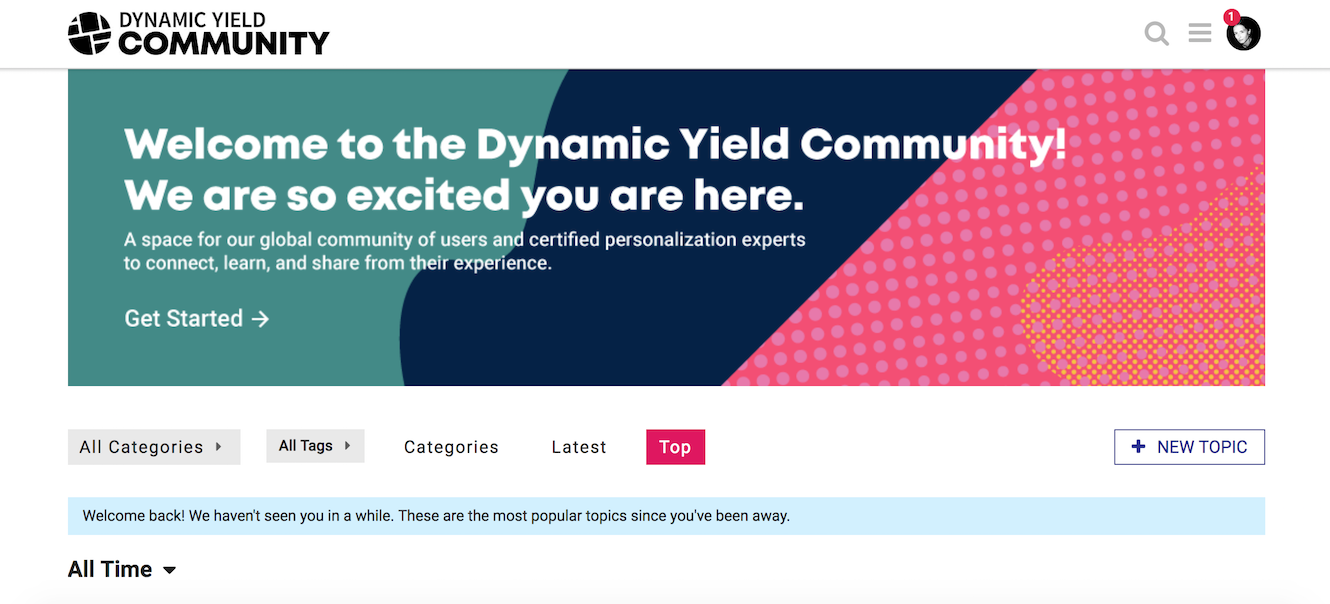 Welcome to Dynamic Yield Community