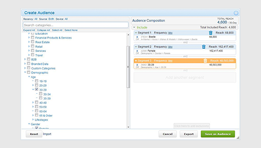 Dynamic Yield and Oracle DMP (BlueKai) integration screenshot