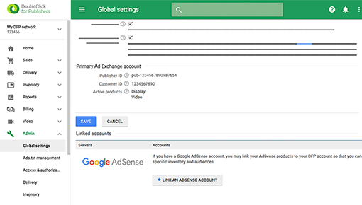 Dynamic Yield and DoubleClick for Publishers integration screenshot