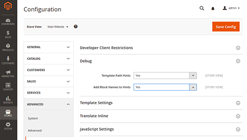 Dynamic Yield and Magento integration screenshot