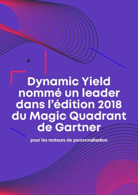 ÉDITION 2018 DU MAGIC QUADRANT DE GARTNER POUR LES MOTEURS DE PERSONNALISATION