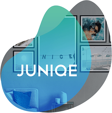 Juniqe case study header image