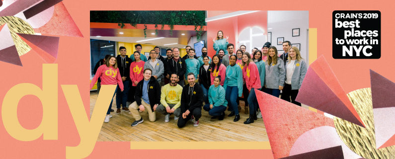 Dynamic Yield ranked 16 on Crain's 2019 list of Best Places to Work in NYC