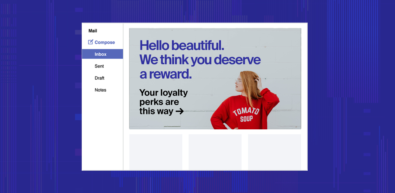 An email campaign using Dynamic Yield audience data to target VIP customers