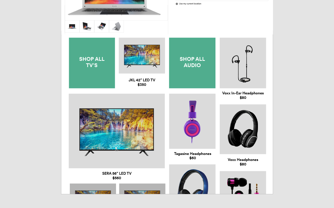 A product detail page (PDP) featuring Pinterest-style recommendations