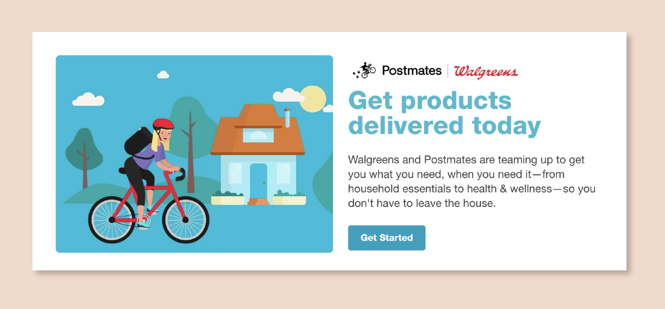 Walgreens teams up with Postmates during COVID-19