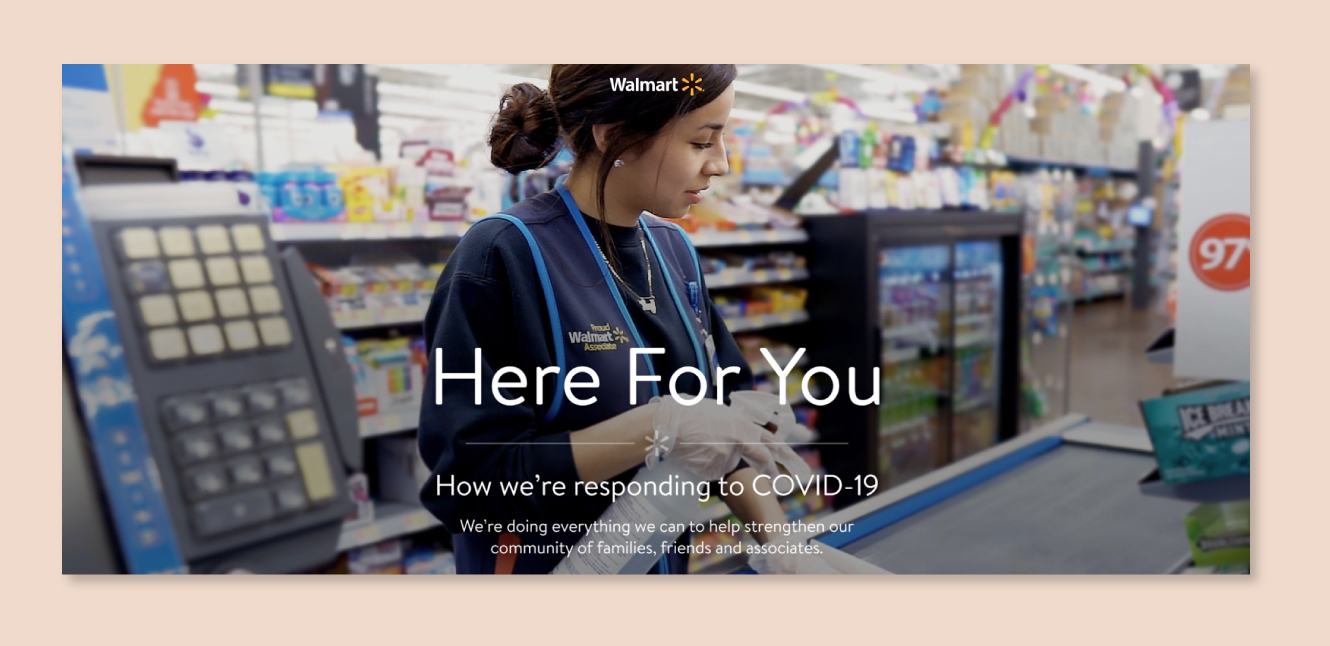 Walmart COVID-19 corporate communication example