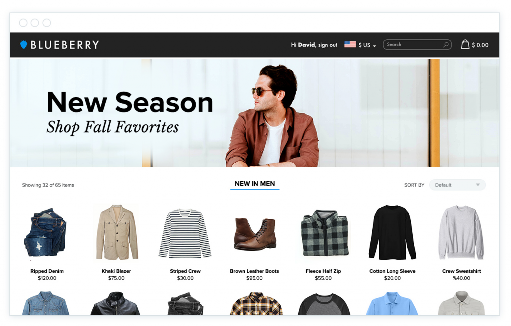 homepage product recs