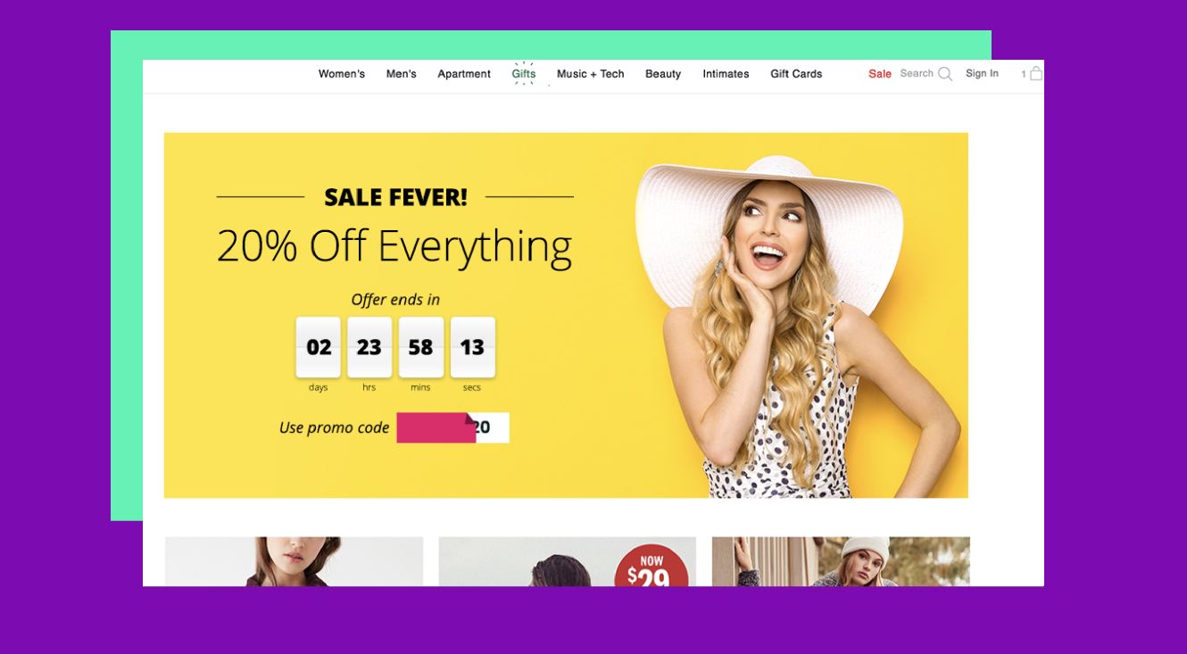 Serve countdown timers to promote time-sensitive offers and campaigns