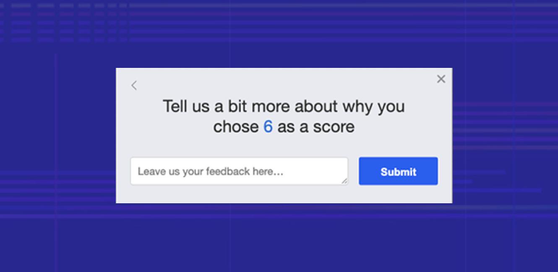 example of a zenloop NPS survey