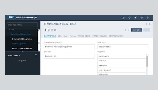 Dynamic Yield and SAP Commerce integration screenshot 1