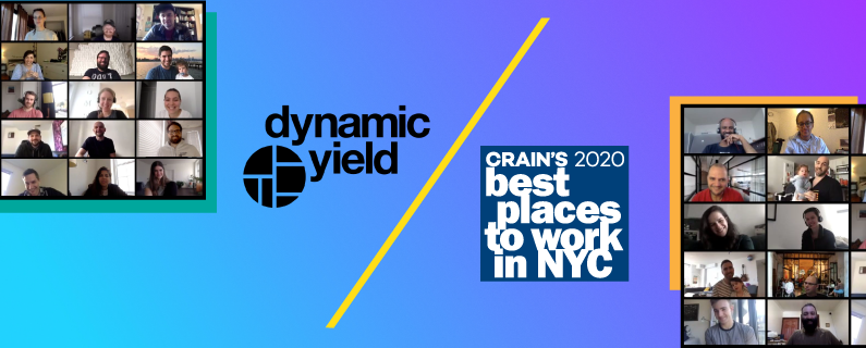 Dynamic Yield Tops Crain's 2020 List of Best Places to Work in NYC