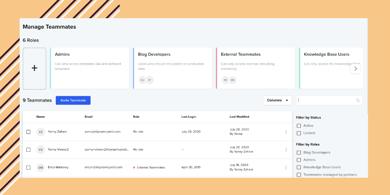 Streamline teammate management with role-based permissions