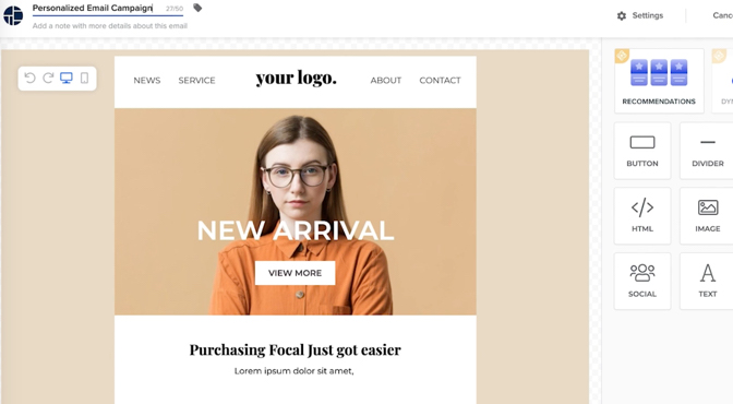 Meet Experience Email by Dynamic Yield