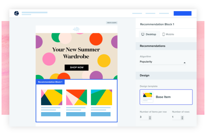 email recommendations