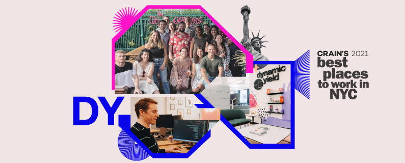 Dynamic Yield snags spot on Crain's 2021 list of Best Places to Work in NYC